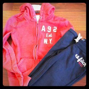 ABERCROMBIE zip up hoodie & sweatpant